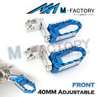 Billet 40mm Extended Front Wide Foot Pegs Pedals Fit ZR7S 98-03  ZX-6R Ninja image
