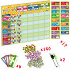 Behavior Reward Responsibility Sticker Charts Kids Family Calendar Board Planner