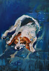 "D Suszczynska - ""Sleeping dog"" - original oil painting - Chania, Greece, Europe"