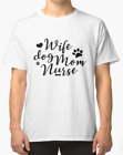 Wife Dog Mom' Cool Pet Dog T-Shirts Cotton M-3XL US Men's Clothing Trend 2019