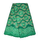 (Green) - KENLACE 5yards/lot French Nigerian Laces Fabric Tulle African Laces