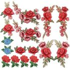 Homgaty 16Pcs Rose Flowers Embroidered Patches, Lace Floral Fabric Applique