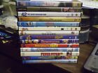 (15) Baseball Theme DVD Lot: The Natural 8 Men Out 42 Bad News Bears Disney MORE