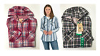 NEW Boston Traders Women's Hooded Shirt Jacket - VARIETY