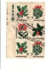 CSS  - US 1254-7, 5c Christmas, Used Zip Block of 6