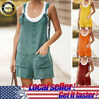 Womens Loose Casual Sleeveless Top Jumsuit Linen Vintage Spaghetti-Strap Rompers