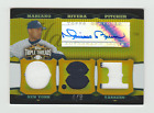 2006 TOPPS TRIPLE THREADS GOLD MARIANO RIVER 2JSY/PATCH AUTO/AUTOGRAPH S/N 4/9