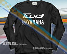 LIMITED YAMAHA TECH3 LOGO EDITION RACING TEAM SPORT T-SHIRT LONG SLEEVE T-SHIRT