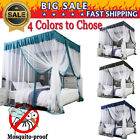 NEW 4 Corners Post Royal Luxurious Cozy Drapes Bed Canopy Bed Curtains Bed+Frame