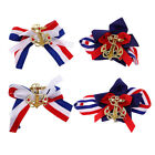 4 Nautical Anchor Hair Clip Barrettes Shoe Clips Women Costume Accessories