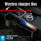 Qi Wireless Car Charger Station Crevice Storage BOX For Apple iPhone x Samsung