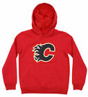 Outerstuff NHL Youth Calgary Flames Primary Logo Fleece Hoodie $29.99 USD on eBay