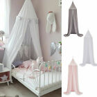 Kids Baby Bed Cotton Canopy Bedcover Mosquito Net Curtain Bedding Dome Tent image