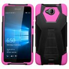 For Microsoft Lumia 650 Case Hard & Soft Hybrid Protective Kickstand Phone Cover