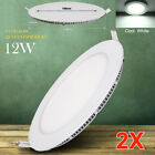 2X 12W LED Recessed Panel Down Lights Lamp Ceiling Fixture Cool White Lighting