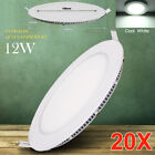 20X 12W LED Recessed Panel Down Lights Lamp Ceiling Fixture Cool White Lighting