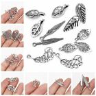 10/30x Leaves Alloy Charms Pendants Fashion DIY Jewelry Accessories Sliver Color
