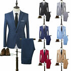 Mens Tuxedos Dress Suits Blazer Jackets + Pants Slim Fit Business Formal Wedding
