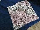 Blankets & Beyond Baby doll Pink Leopard Lovey Pacifier holder security blanket