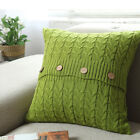 Warm Sofa Throw Pillow Case Square Cushion Cover Cable Knit Soft Pillowcase image