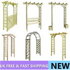 Impregnated Wood Arbour Rose Flower Plant Arch Garden Gate Pergola Archway Patio