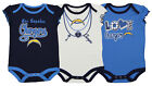 Outerstuff NFL Infant Girls Los Angeles Chargers Assorted 3 Pack Creeper Set $17.5 USD on eBay