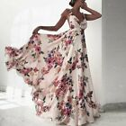 Women's Boho Long Maxi Dress Ladies Cocktail Party Evening Summer Beach Sundress