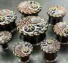 PAIR Steampunk Yin-Yang Tunnels Double Flare Surgical Steel Plugs Earlet Gauges
