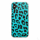 BLUE LEOPARD PRINT PHONE CASE ANIMAL PRINT HARD COVER FOR APPLE/SAMSUNG/HUAWEI