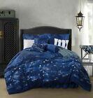 Chezmoi Collection 9p Jacquard Starry Blossom Night Bedding Comforter Set image
