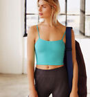 NEW Free People Movement Tighten Up Tank Yoga Crop in Aqua Sz M/L 26.40
