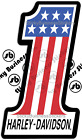 Kyпить **Many Sizes** Harley Davidson 1 Racing Sticker Vinyl Decal **FREE SHIPPING!!!** на еВаy.соm