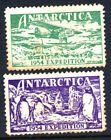 Two Poster Labels for the 1954 Australian Antarctic Expedition