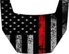 2016-2018 Polaris General 1000 EPS HOOD DECAL REFLECTIVE THIN RED LINE FLAG