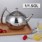 'Stainless Steel Teapot Container Coffee Pot Kettle Filter Large Capacity