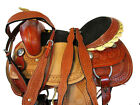 USED 15 16 PLEASURE SHOW RODEO BARREL RACING TRAIL TOOLED LEATHER WESTERN SADDLE