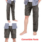 Mens Quick Dry Zip Off Convertible Pants Shorts Outdoor Hiking Loose Trousers