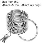 Kyпить Premium Pack 20/25/30 mm Key Rings Chains Split Ring Hoop Metal Steel in Silver на еВаy.соm