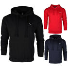 Внешний вид - Nike Men's Long Sleeve Embroidered Swoosh Fleece Pullover Hoodie