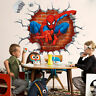 Spiderman 3D Fashion Decals Wall Stickers Removable Kids Boy Bedroom