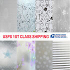 Frosted Cover Glass Window Floral Flower Sticker Film Office Door Waterproof NEW