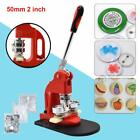 "1""/1.25""/2.28"" Button Maker Machine 300 Buttons Circle Badge Punch Press Pin DIY"