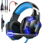 3.5mm Gaming Headset Mic LED Stereo Headphones Gaming Keyboard Mouse Bundles Hot