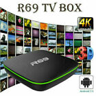 2019 R69 Smart TV Box Android 7.1 Quad Core 1 8G HD 2.4GHz WiFi 4K Media Players