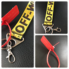 Off White Belt Keychain Yellow w/ Tag option