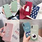 Matte Patterned Silicone Shockproof Case Cover For iPhone XS Max XR X 8 7 6 Plus