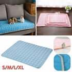4 Sizes Pet Cooling Mat Dog Cat Heat Relief Bed Summer Cushion Pad Blue Pink