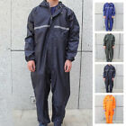 Adults Men Women Waterproof Motorcycle Rain Suit Raincoat Overalls Work Outdoor $28.99 USD on eBay