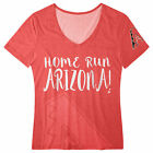 FOCO MLB Women's Arizona Diamondbacks Home Run V-Neck Tee Shirt on Ebay
