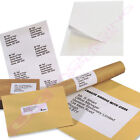 10 25 50 100 500 1000 A4 SHEETS OF PLAIN WHITE SELF ADHESIVE LABELS 24 PER PAGE